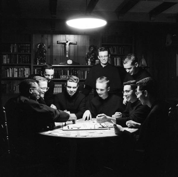 Monopoly Photograph - Greedy Monks by Larry Stevens