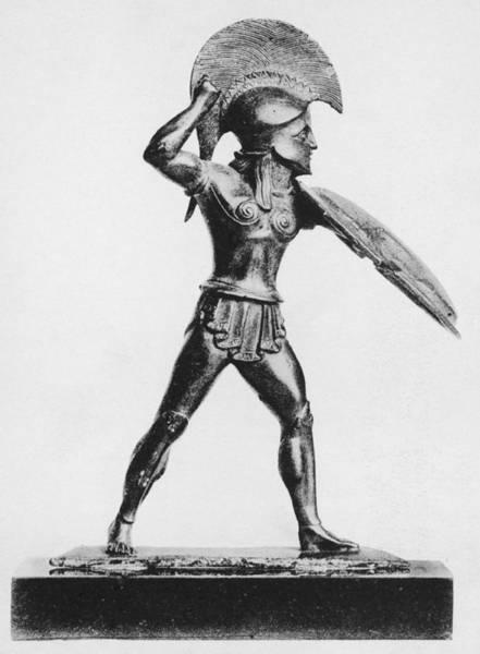 Ancient Greek Photograph - Greek Hoplite by Hulton Archive