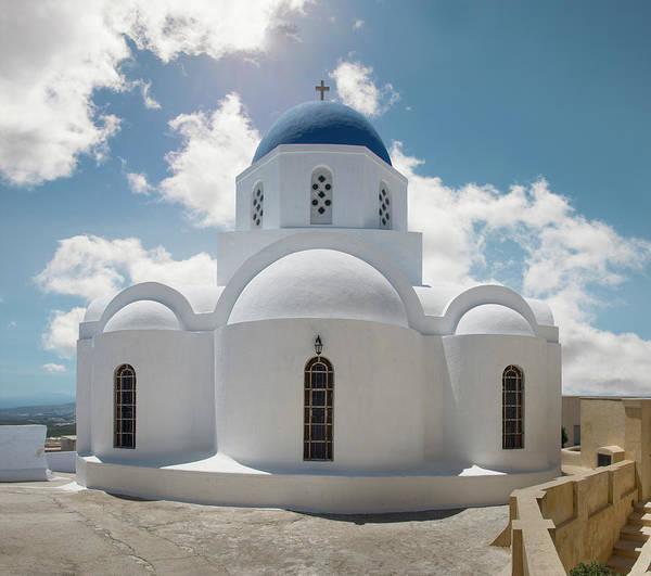 Photograph - Greek Orthodox Church, Pyrgos, Santorini by Ed Freeman