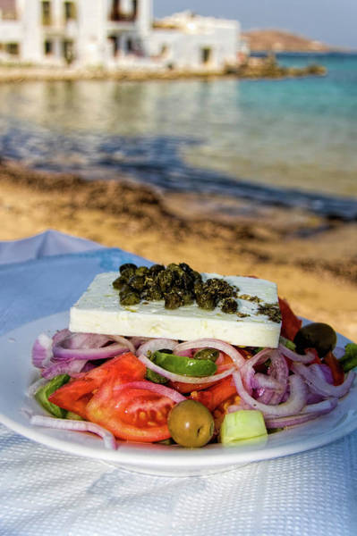 Outdoor Cafe Photograph - Greek Salad by David Smith