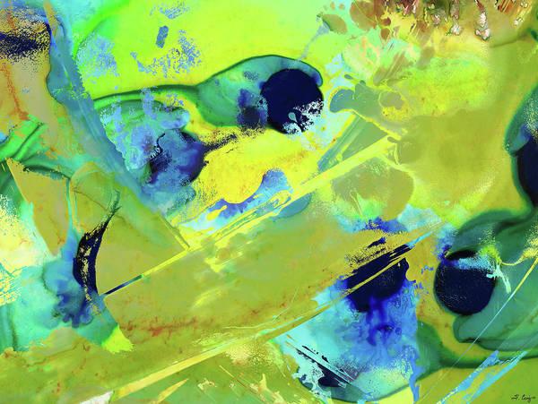 Wall Art - Painting - Green Abstract Art - New Energy - Sharon Cummings by Sharon Cummings