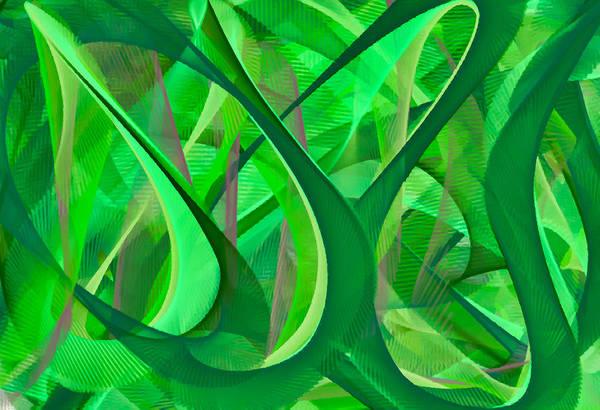 Wall Art - Digital Art - Green Abstract by Chris Butler