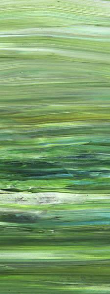 Abstraction Painting - Green Abstract Meditative Brush Strokes II by Irina Sztukowski