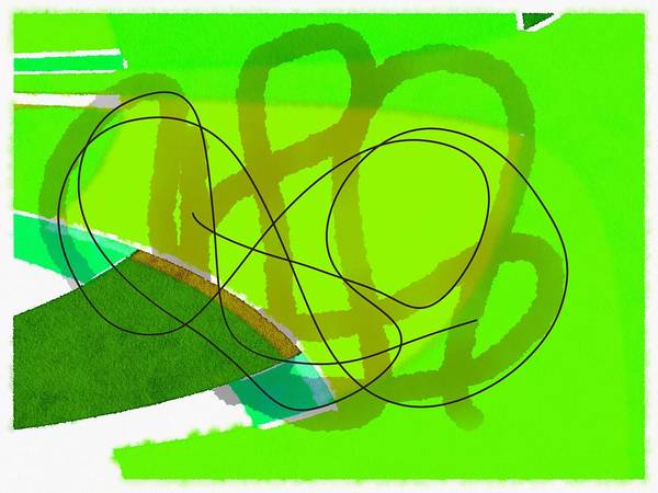 Wall Art - Painting - Green Abstract by Steve K