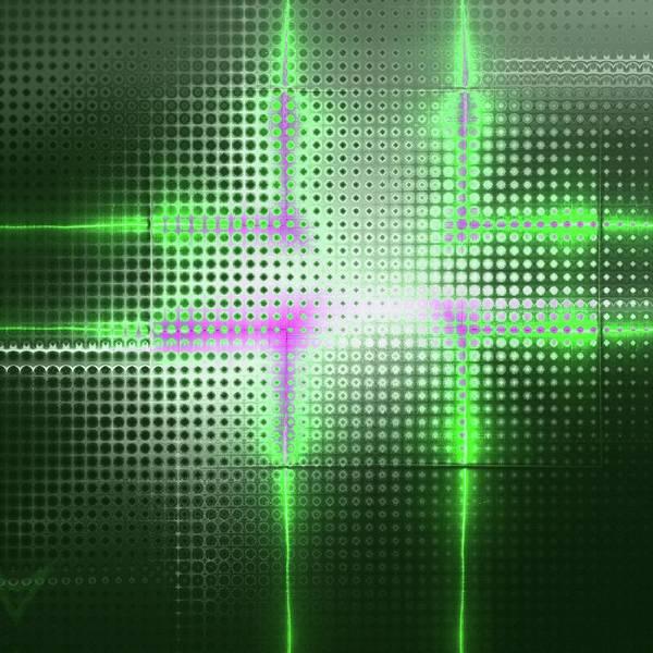 Fashion Plate Digital Art - Green Aluminum Sparkling Surface. Metallic Geometric Abstract Fashion Background. by Rudy Bagozzi