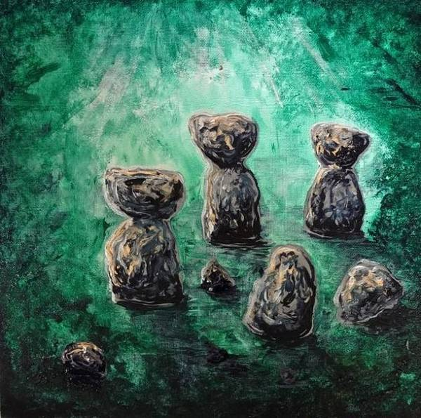 Painting - Green Ancient Latte Stone Site by Michelle Pier