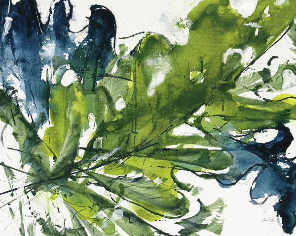 Wall Art - Painting - Green And Blue by Jan Griggs