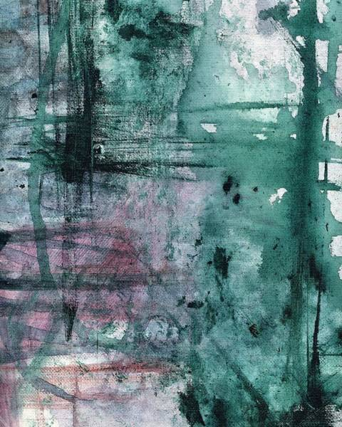 Painting - Green And Purple Abstract Painting 2 by Itsonlythemoon