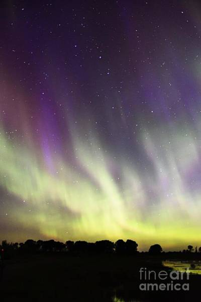 Photograph - Green And Purple Fire In The Sky by Larry Ricker