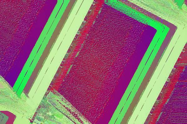 Wall Art - Mixed Media - Green And Red Abstract by David Ridley