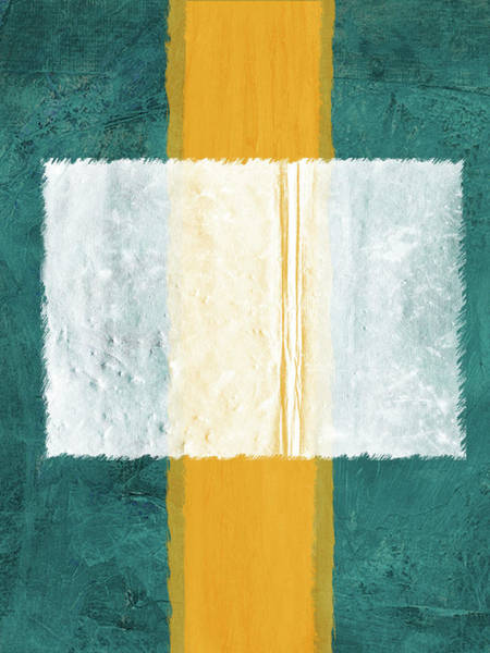 Wall Art - Painting - Green And Yellow Abstract Theme IIi by Naxart Studio