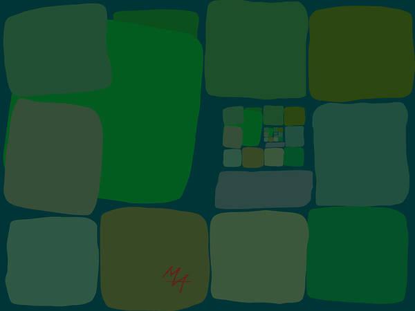 Digital Art - Green by Attila Meszlenyi