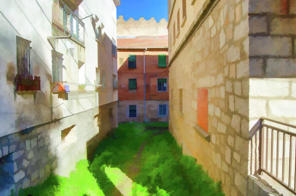 Digital Art - Green Backstreet by Borja Robles