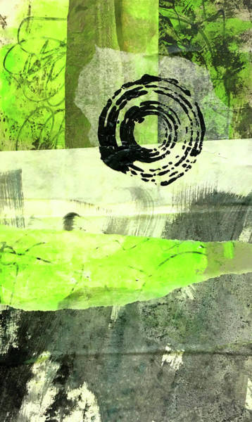 Wall Art - Painting - Green Balance No. 1 by Nancy Merkle