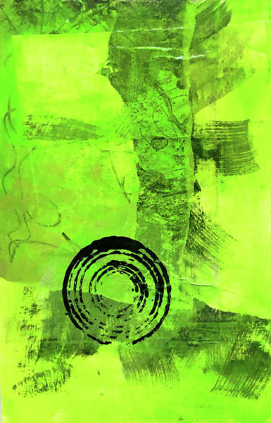 Wall Art - Painting - Green Balance No. 2 by Nancy Merkle