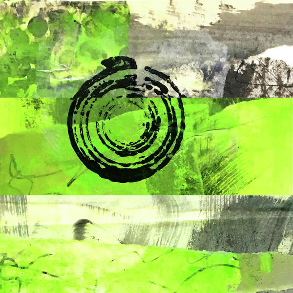 Wall Art - Painting - Green Balance No. 4 by Nancy Merkle