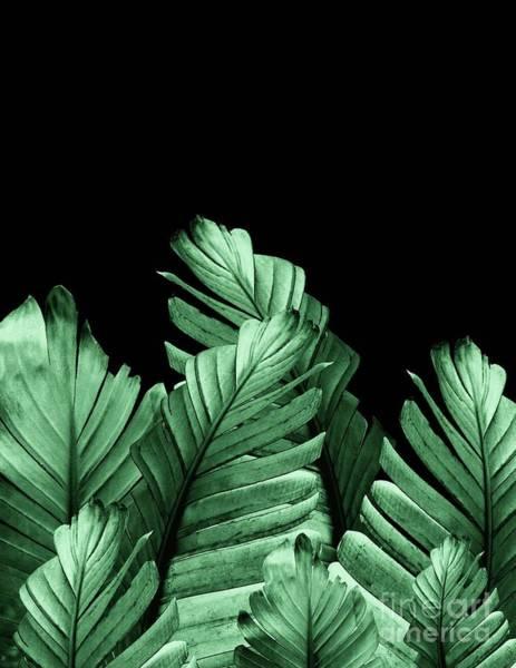 Banana Leaf Mixed Media - Green Banana Leaves Dream #2 #tropical #decor #art  by Anitas and Bellas Art