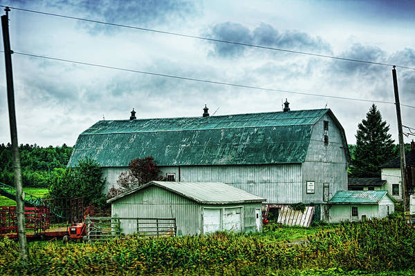 Photograph - Green Barn In Quebec by Tatiana Travelways