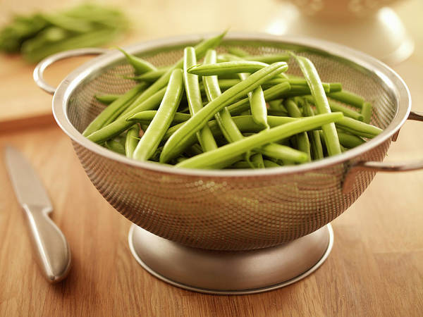 Colander Wall Art - Photograph - Green Beans In Colander by Adam Gault