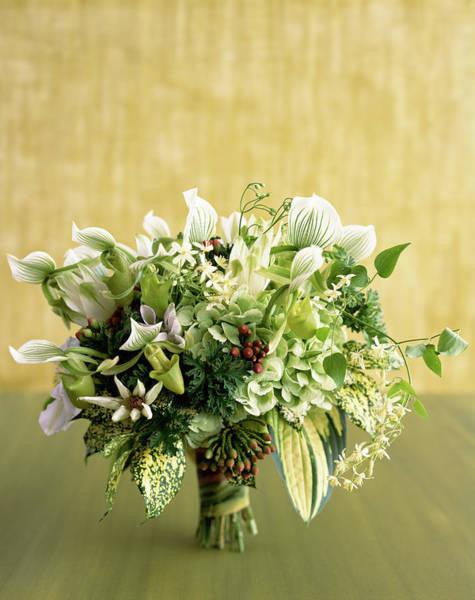 Wedding Bouquet Photograph - Green Bouquet by Lisa Hubbard