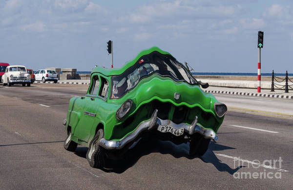 Photograph - Green Car With A Twist by Les Palenik
