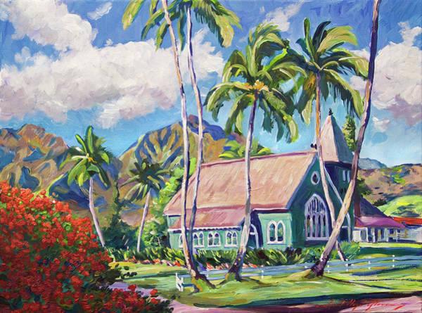 Painting - Green Church Kauai by David Lloyd Glover