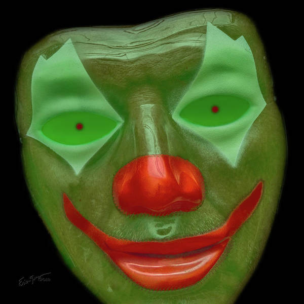 Photograph - Green Clown Face by Erich Grant
