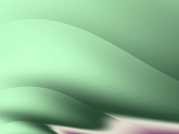 Wall Art - Digital Art - Green Curve by Rich Leighton