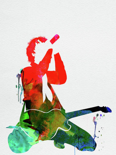 Rock And Roll Mixed Media - Green Day Watercolor by Naxart Studio