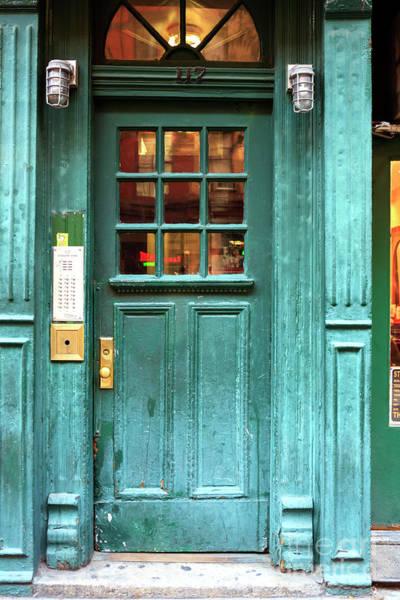 Greenwich Village Photograph - Green Door In Greenwich Village New York City by John Rizzuto