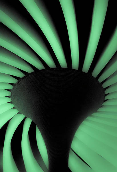 Photograph - Green Fan Ceiling by Silvia Marcoschamer