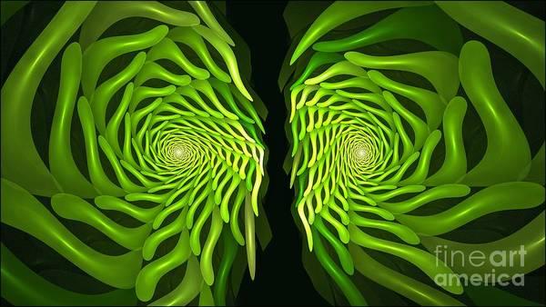 Digital Art - Green Finger Fractal Plant by Doug Morgan