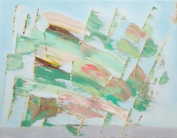 Painting - Green Flags by Dave Martsolf