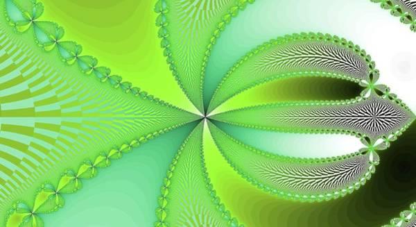Digital Art - Green Floral Fantasy Fractal by Don Northup