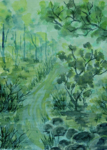 Painting - Green Forest by ZeichenbloQ