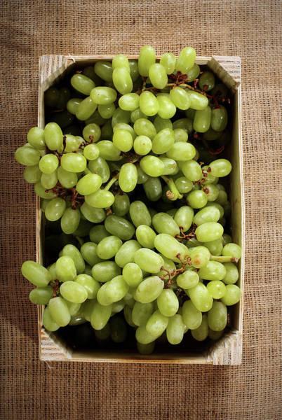 Ripe Grapes Photograph - Green Grapes by Chang