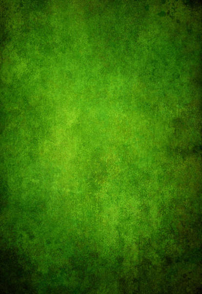 Photograph - Green Grunge Background by Mammuth