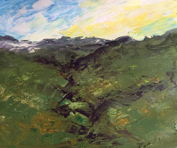 Painting - Green Hills by Norma Duch