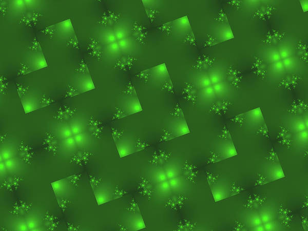 Jade Digital Art - Green Holiday Background by Rich Leighton