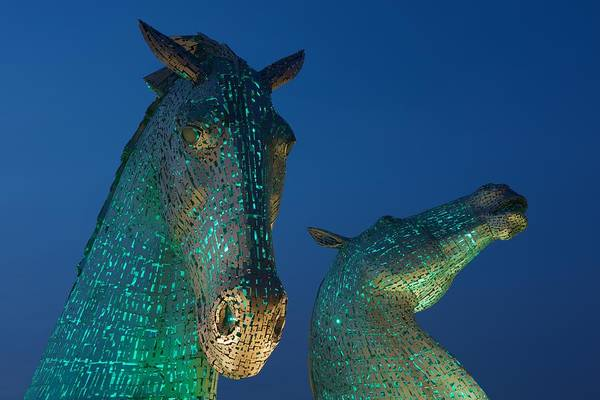 Photograph - Green Kelpies by Stephen Taylor