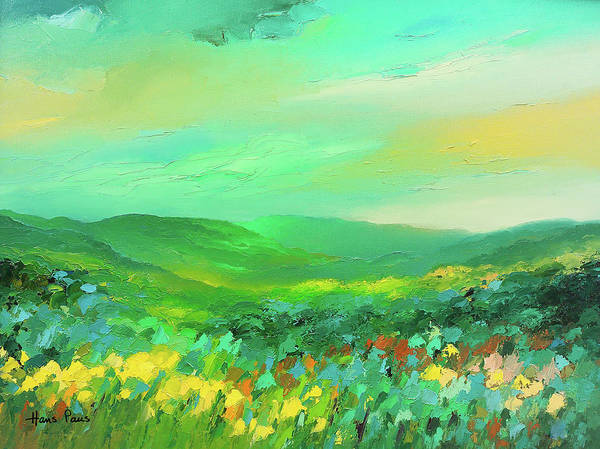 Wall Art - Painting - Green Landscape by A.v. Art