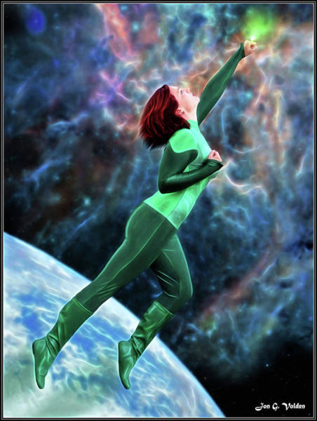 Photograph - Green Lantern In Space by Jon Volden