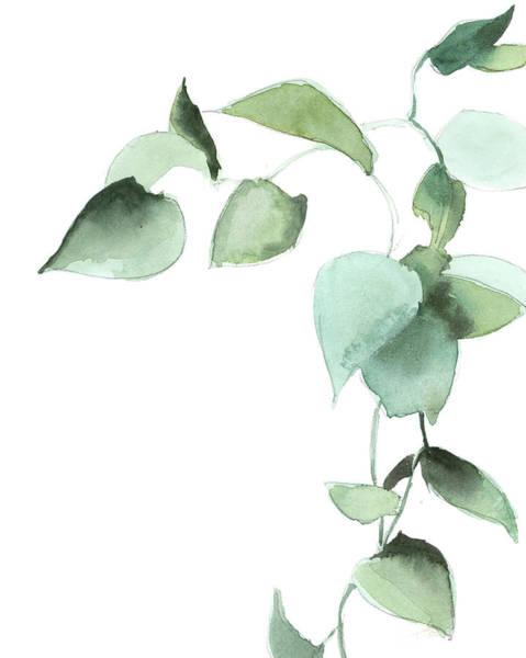 Wall Art - Painting - Green Leaves II by Sophia Rodionov