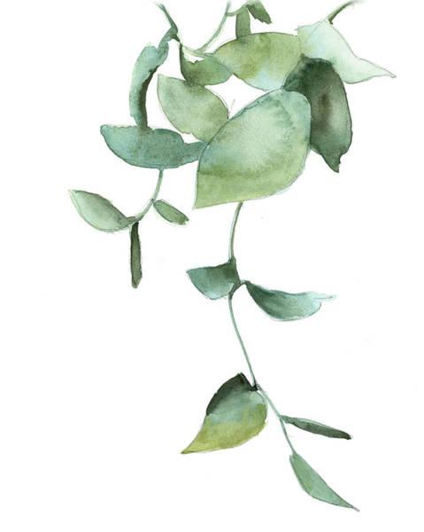 Wall Art - Painting - Green Leaves by Sophia Rodionov