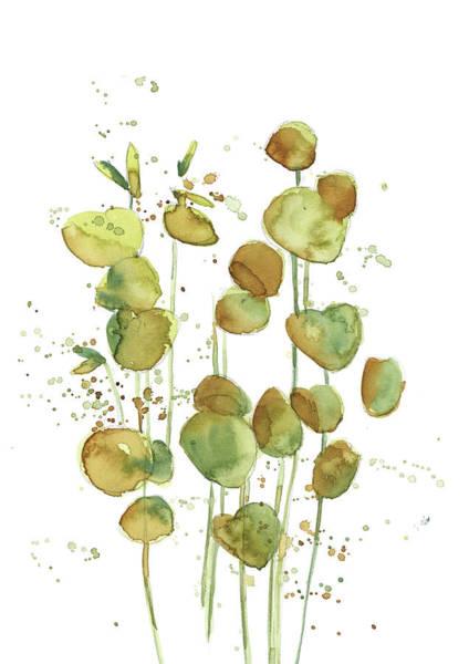 Wall Art - Painting - Green Leaves V by Sophia Rodionov