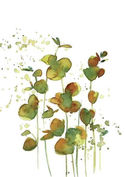 Wall Art - Painting - Green Leaves Vi by Sophia Rodionov