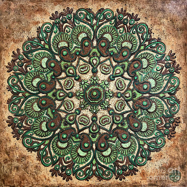 Painting - Green Mandala by Amy E Fraser