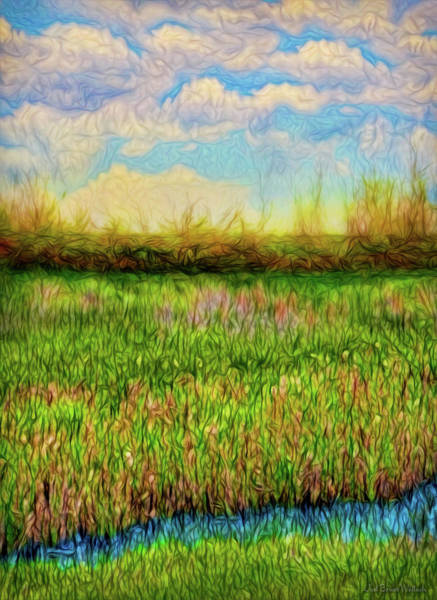 Digital Art - Green Meadow Peace by Joel Bruce Wallach