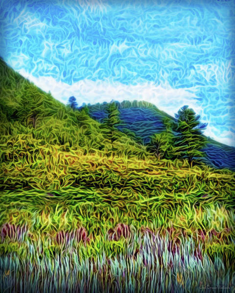 Digital Art - Green Meadow Spirit by Joel Bruce Wallach