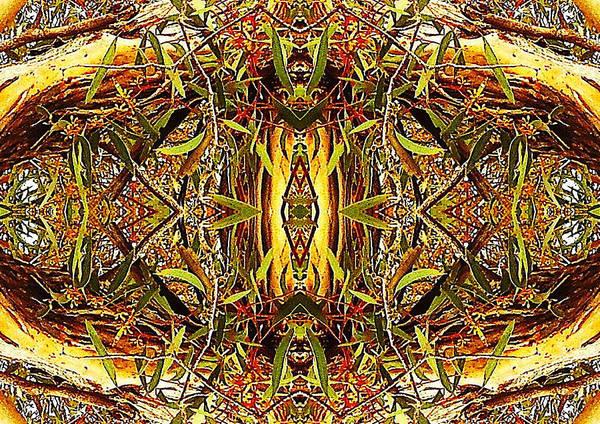 Digital Art - Green N Gold   by Sherrie Hall